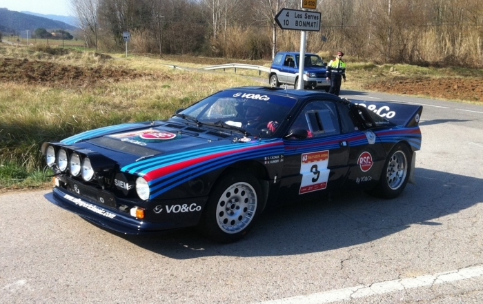 THE LANCIA RALLY 037 OF SERGE CAZAUX, IN THE 64 RALLY COSTA BRAVA