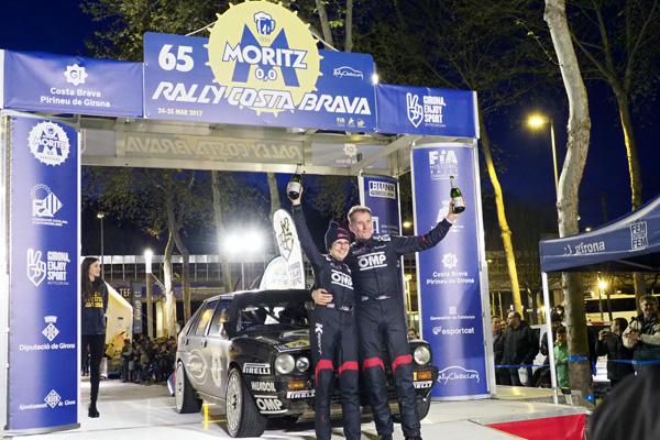 'Lucky'-Pons, vencedores por segunda vez del Rally Moritz Costa Brava