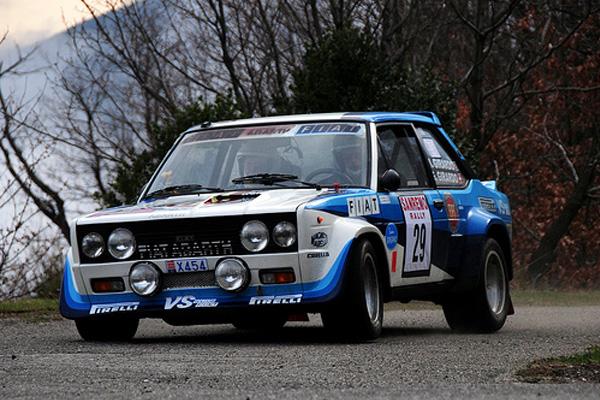 Max Girardo, avec Fiat 131 Abarth Gr.4 au 66 Rally Moritz Costa Brava