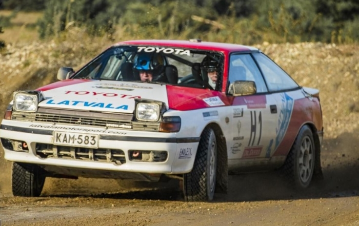 Latvala, avec une Toyota ex-Carlos Sainz, sur le Rally Moritz Costa Brava