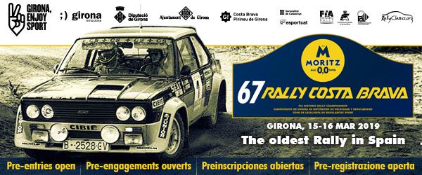 Pre-inscripciones abiertas para el 67 Rally Moritz Costa Brava