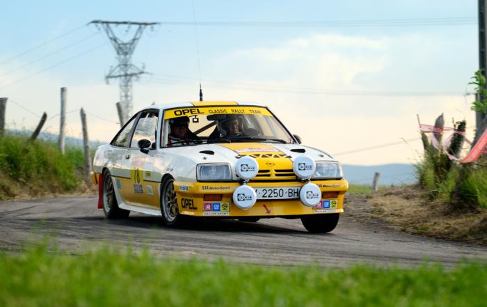Un Opel Manta GTE en el Rally Moritz Costa Brava
