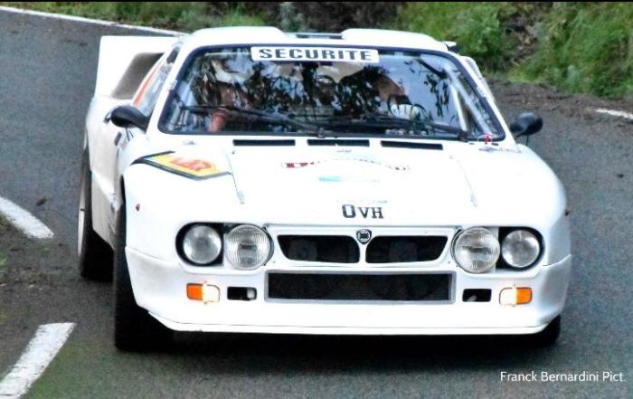 Otro Lancia Rally 037 en el Rally Moritz Costa Brava