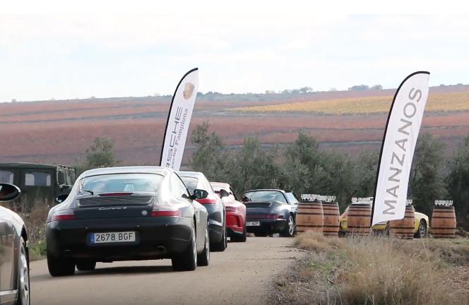 Visita y cena en las Bodegas Manzanos en las Porsche Classic Series de Navarra