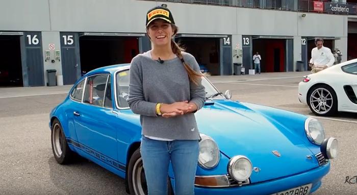 Carla Marcó en las Porsche Classic Series de Navarra