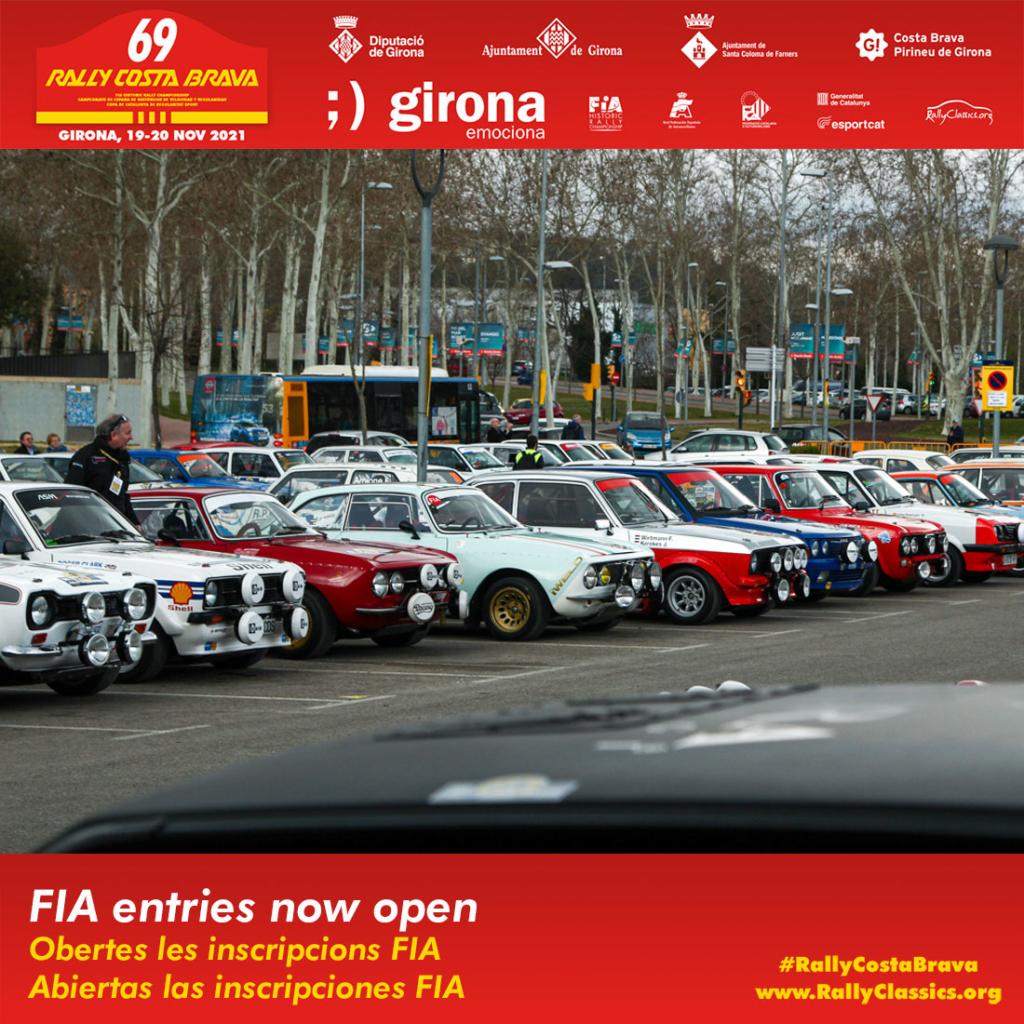 69 Rally Costa Brava Inscripciones FIA abiertas