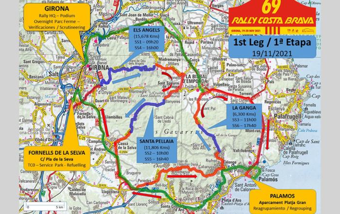 69 Rally Costa Brava: 175 km crono, 13 tramos y nuevas ubicaciones