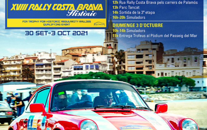 Programa de actividades del XVIII Rally Costa Brava Històric