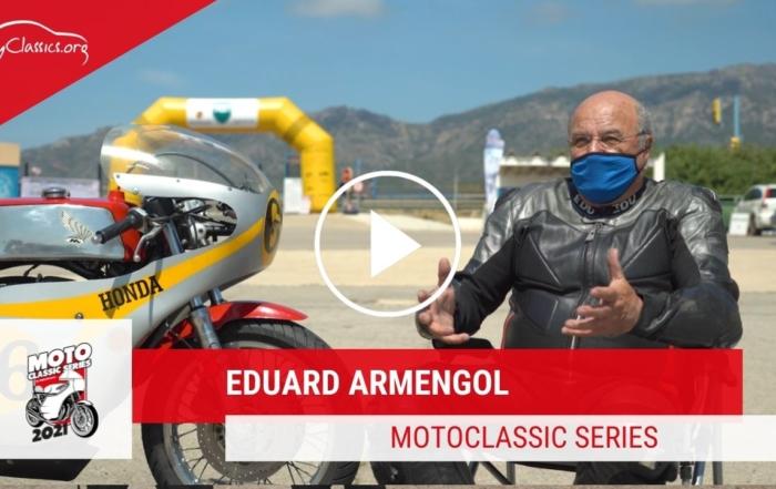 Eduard Armengol i la seva Honda CB Four a les MotoClassic Series