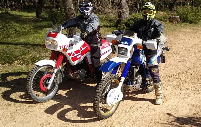 Las motos clásicas, presentes en el Navarra Classic Raid