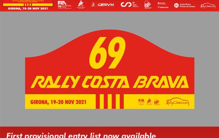 Se abre un número limitado de plazas para el 69 Rally Costa Brava (18-21 Nov)