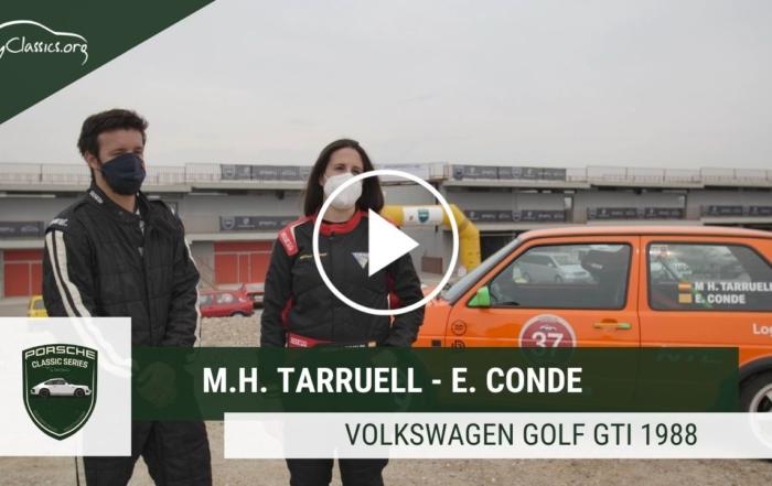 M.Helena Tarruell / E.Conde y su VW Golf GTI en las Porsche Classic Series