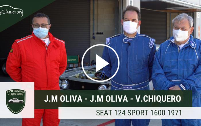 José Miguel Oliva y su Seat 124 Sport 1600 en las Porsche Classic Series