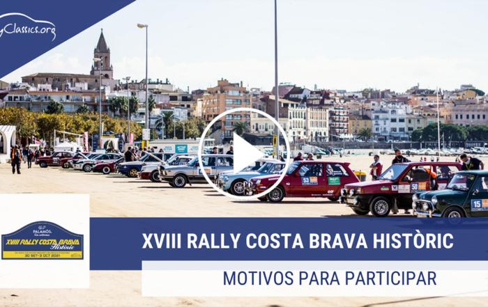 Hay muchos motivos para participar en el XVIII Rally Costa Brava Històric