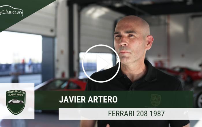 Javier Artero y su Ferrari 208 en las Porsche Classic Series