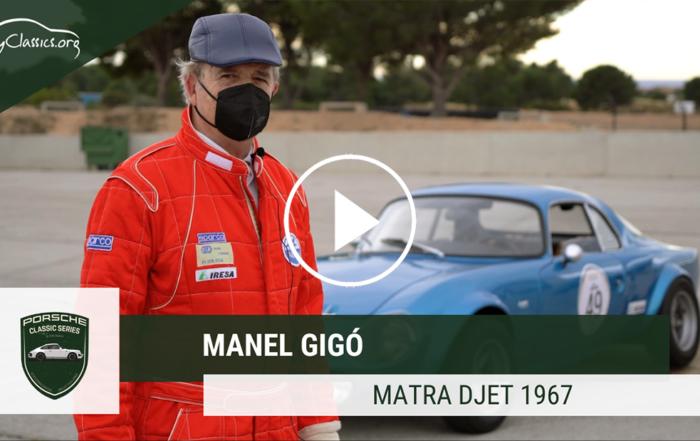 Manel Gigó i el seu Matra DJet de 1967 a les Porsche Classic Series