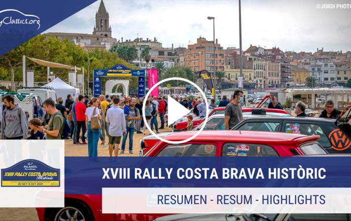 Profitez du vidéo officiel du XVIII Rally Costa Brava Històric